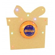 18mm Freestanding Christmas Present Terry's Chocolate Orange Holder with LED Lights