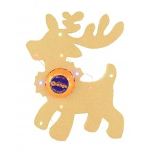 18mm Freestanding Christmas Reindeer Terry's Chocolate Orange Holder with LED Lights