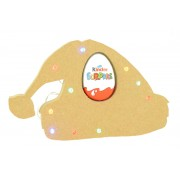18mm Freestanding Christmas Santa Hat Kinder Egg Holder with LED Lights