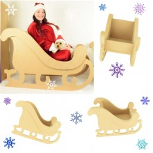 Super Size 18mm MDF Quality Flat packed Christmas Sleigh Design - Available in 3 Sizes