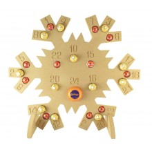 Super sized 18mm Freestanding Christmas Chocolate Orange and Ferrero Rocher Holder Advent Calendar - SNOWFLAKE