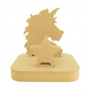 18mm Freestanding MDF Christmas Stocking Hanger/Holder - Unicorn