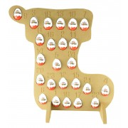 Super sized 18mm Freestanding Christmas Kinder Egg Holder Advent Calendar - STOCKING