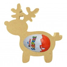 18mm Freestanding Basic Christmas Reindeer Kinder Egg Holder