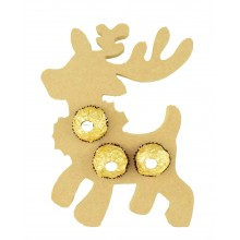 18mm Freestanding Christmas Reindeer Ferrero Rocher Chocolates Holder