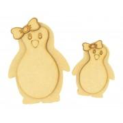 18mm Freestanding 3D Cute Girl Penguin - Options Available