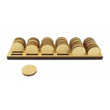 Laser Cut 6mm Token Stand To Hold 30 x 20mm Face or Plain Tokens