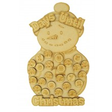 Laser Cut 3D 'Days Until Christmas' Countdown Advent Calendar with Seperate Tokens To Add Your Own Velcro - Snowman
