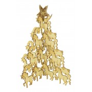 Laser Cut Freestanding Unicorn Christmas Tree with Star on Top