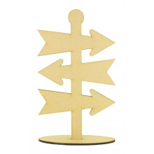 Laser Cut 6mm Plain Direction Arrows on a Stand