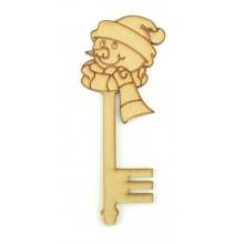 Laser Cut Magic Snowman Christmas Key