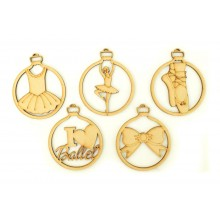Laser Cut Ballet Christmas Baubles - Set of 5