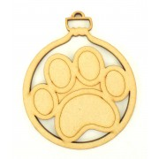 Laser Cut Paw Print Bauble
