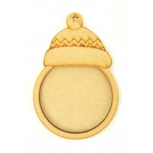 Laser Cut Bobble Hat Photo Frame Bauble