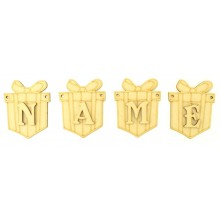 Laser Cut Personalised Christmas Present Bunting with Letters - (BEL)
