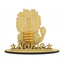 6mm Lion Shape Chocolate Coin Holder on a Stand - Stand Options