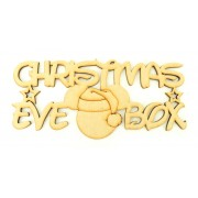 Laser cut 'Christmas Eve Box' Sign with Stars and Santa Mouse