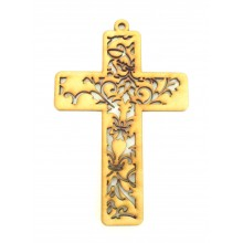 Laser Cut Detailed Cross Decoration