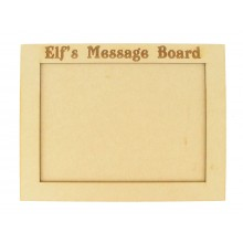 Laser Engraved 'Elf's Message Board' Chalkboard