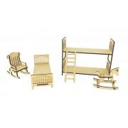 SPECIAL OFFER - Laser cut 6mm Elf Furniture Set