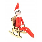 Laser Cut 6mm Plain Elf Rocking Chair