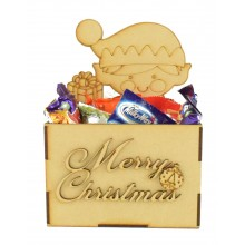Laser Cut Christmas Hamper Treat Boxes - Christmas Elf Shape