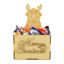 Laser Cut Christmas Hamper Treat Boxes - Christmas Reindeer Shape