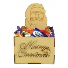 Laser Cut Christmas Hamper Treat Boxes - Christmas Santa Shape