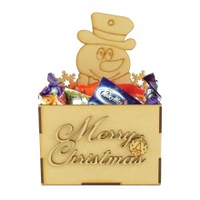 Laser Cut Christmas Hamper Treat Boxes - Christmas Snowman Shape