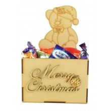 Laser Cut Christmas Hamper Treat Boxes - Christmas Teddy Shape