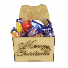Laser Cut Christmas Hamper Treat Boxes - X Box Controller Shape
