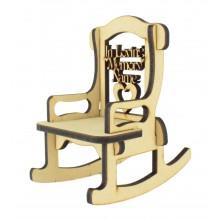 Laser cut 6mm Personalised 'In Loving Memory' Rocking Chair