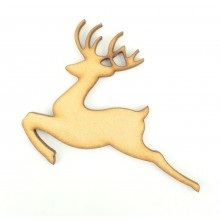 Laser Cut Leaping Reindeer Shape