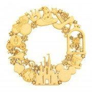 Laser Cut Detailed Magical Castle Shapes and Snowflake Wreath