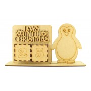 Laser Cut Perpetual Penguin Christmas Countdown on a Stand