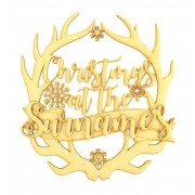 Laser Cut Personalised 'Christmas At The...' Antlers with 3D Surname