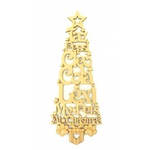 Laser Cut Personalised 'My Pets at Christmas' Tree - NO STAND