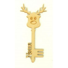 Laser Cut Personalised Magic Detailed Reindeer Christmas Key