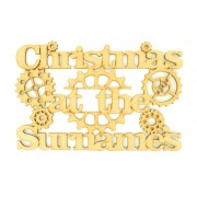 Laser Cut Personalised 'Christmas At The...' Sign - Steampunk Design