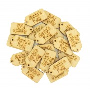 Laser Cut 'Santa's Key' Traditional Gift Tag Shape with Hole - BULK BUY PACK OF APPROX 20