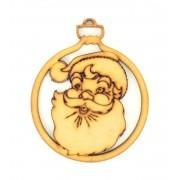 Laser Cut Detailed Santa Head Christmas Bauble