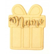 Laser cut Personalised 200mm Christmas Shape with 3D Name - Present Design