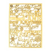 Laser Cut 'Sleigh Bells Ring, are you listening...' Christmas Quote Sign