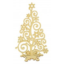Laser Cut Freestanding Christmas Snowflake Swirl Tree