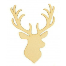 Laser Cut Plain Stag Head Plaque