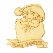 Laser cut 'Merry Christmas' Santa Sign