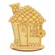 Laser Cut Mini Gingerbread House Tealight Holder