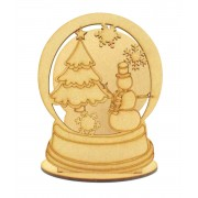 Laser Cut Mini Christmas Snow globe Tealight Holder