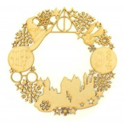 Laser Cut Detailed Wizard Shapes and Snowflake Wreath