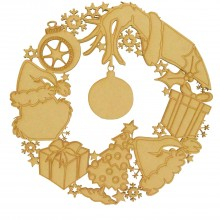Laser Cut Detailed Grinch Themed Christmas Wreath